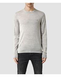 AllSaints | Gray Mode Merino Crew Sweater Usa Usa for Men | Lyst