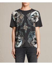 AllSaints | Black Orbit Crew T-shirt for Men | Lyst