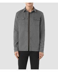AllSaints Gray Reverse Shirt Usa Usa for men