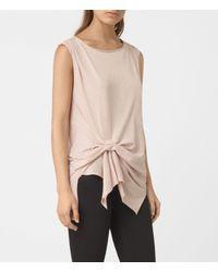 AllSaints | Pink Rivi Vest | Lyst