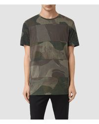 AllSaints | Green Smock Udal Crew T-shirt for Men | Lyst