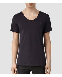 AllSaints | Black Tonic Scoop T-shirt for Men | Lyst