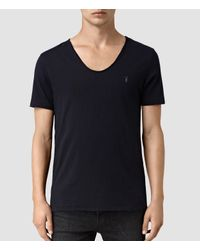 AllSaints | Blue Tonic Scoop T-shirt Usa Usa for Men | Lyst