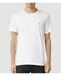 AllSaints | White Tonic Crew T-shirt Usa Usa for Men | Lyst