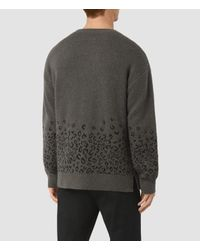 AllSaints - Green Tredan Crew Jumper for Men - Lyst