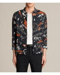 AllSaints | Black Ulua Shirt Usa Usa for Men | Lyst