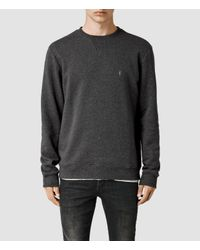 AllSaints - Gray Wilde Crew Sweatshirt for Men - Lyst
