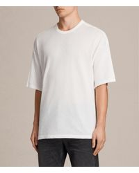 AllSaints | White Hiruma Crew T-shirt for Men | Lyst