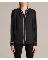 AllSaints | Black Rica Shirt | Lyst