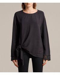 AllSaints - Black Ricco Top - Lyst