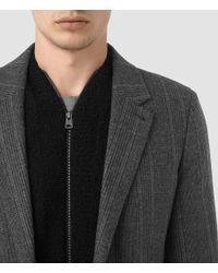 AllSaints - Gray Sligo Coat for Men - Lyst