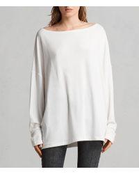 AllSaints - White Rita Top - Lyst