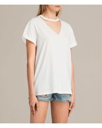 AllSaints - White Emma Tee - Lyst