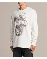 AllSaints | White Good Times Crew Sweatshirt for Men | Lyst