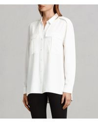 AllSaints - White Millie Shirt - Lyst