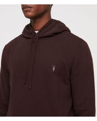 AllSaints - Red Raven Pullover Hoodie for Men - Lyst