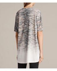AllSaints - White Tygr Cori T-shirt - Lyst