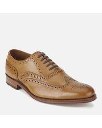 GRENSON - Brown Men's Dylan Leather Wingtip Brogues for Men - Lyst