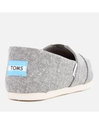 TOMS - Gray Women's Seasonal Classic Washed Denim Slip On Pumps - Lyst