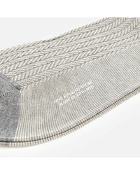 Pantherella   Gray Men's Fabian Herringbone Cotton Socks for Men   Lyst