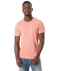 Alternative Apparel | Red Eco-jersey Crew T-shirt for Men | Lyst