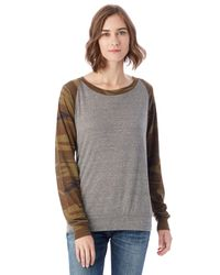 Alternative Apparel | Gray Slouchy Printed Eco-jersey Pullover for Men | Lyst