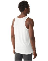 Alternative Apparel - White Shaggy Tank Top for Men - Lyst
