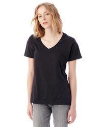Alternative Apparel | Black Perfect Organic Pima Cotton V-neck T-shirt | Lyst