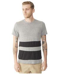 Alternative Apparel - Gray Basic Color-blocked Crew T-shirt for Men - Lyst