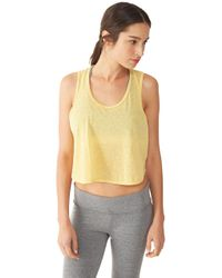 Alternative Apparel | Yellow Keep Your Cool Eco-gauze Jersey Tank Top | Lyst