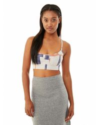 Alternative Apparel | Blue Knock Out Printed Stretch Bustier | Lyst