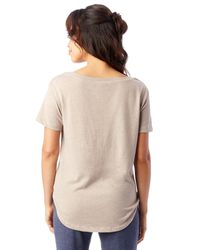 Alternative Apparel - Natural Backstage Vintage Jersey T-shirt - Lyst