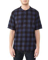 Alternative Apparel | Blue Crusade Yarn Dye Flannel Popover Shirt for Men | Lyst