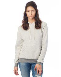 Alternative Apparel - Gray Challenger Eco-fleece Pullover Hoodie for Men - Lyst