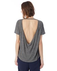 Alternative Apparel - Gray Pony Melange Burnout T-shirt W/ Back Strap - Lyst