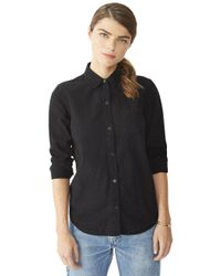Alternative Apparel - Black Chambray Work Shirt - Lyst