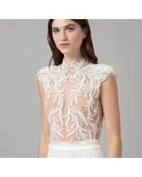Amanda Wakeley - White Embellished Silk Tulle Dress - Lyst