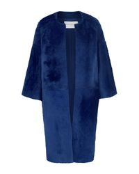 Amanda Wakeley | Blue Caro Sapphire Fur Coat | Lyst