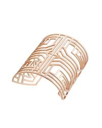 Amanda Wakeley - Pink Deco Rose Gold Square Bangle - Lyst