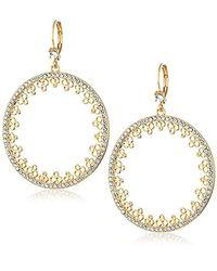Kate Spade - Metallic Faux Pearl Clear/gold Drop Earrings - Lyst