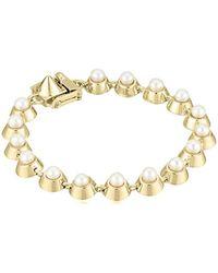 Eddie Borgo - Metallic Pearl Cabochon Tennis Bracelet - Lyst