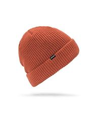 Volcom - Orange Sweep Lined Snow Beanie for Men - Lyst