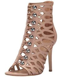 Guess - Pink S Perlina2 Open Toe Ankle Fashion Boots - Lyst