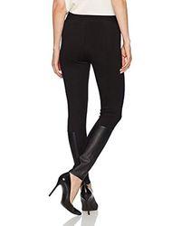 Jones New York - Black Legging W/faux Leather Insert - Lyst