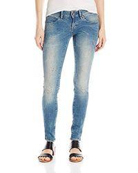 Donna G-STAR RAW Midge Zip Low Waist Super Skinny Jeans