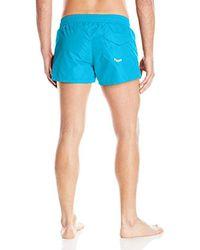 DIESEL - Blue Sandy Mohican Logo Swim Short for Men - Lyst