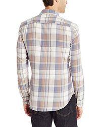 Lucky Brand - Gray Twill Mason Work Wear Shirt for Men - Lyst