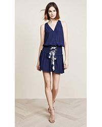 Ramy Brook - Blue Bianca Printed Tie Dress - Lyst