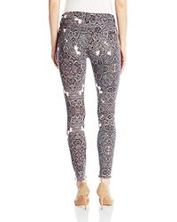 7 For All Mankind - Multicolor Skinny Jean Ankle Pant - Lyst
