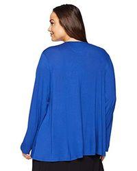 Arabella - Blue Plus Size Open Cardigan - Lyst